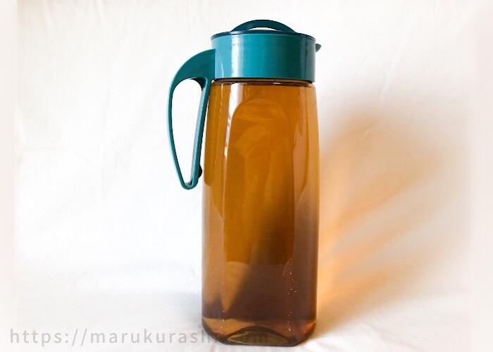 やさしい麦茶濃縮缶で薄めた麦茶