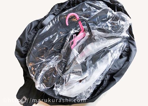 エコバッグシュパットをクリーニングバッグとして使う