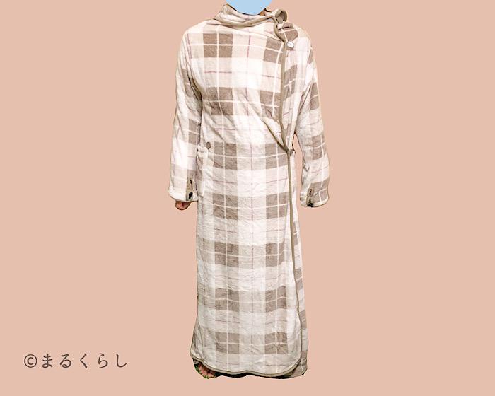 ニトリ着る毛布 Nウォーム q-o ロング MO L