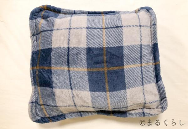 ニトリ着る毛布 Nウォーム q-o ロング NV クッション