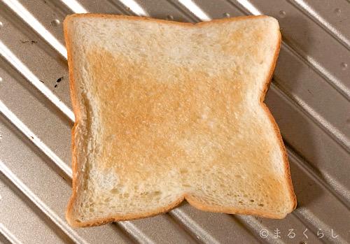 パナソニックのビストロで焼いたトースト