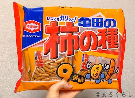 亀田製菓柿の種9袋詰